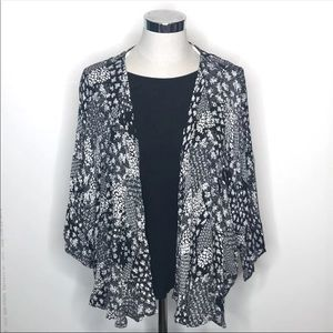 Black and White Floral Cardigan